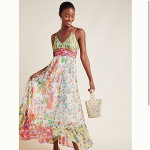 Anthropologie 'Malibu Floral Maxi Dress'